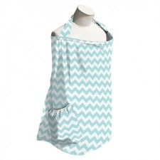 Teal Chevron Nursing Cover