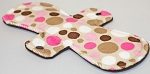 11 Inch Jungle Dot Minky Overnight Pad with Fleece back