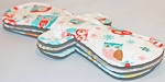 Set of 3 13 Inch Surprise Minky Post Partum Pads with Fleece backs