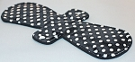 13 Inch Black Swiss Dot Minky Post Partum Pad with Fleece back