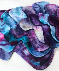 Ice Dyed Bamboo Velour Pad with Fleece backs - Pick Your Size!