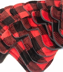 Buffalo Plaid Minky Pads with Fleece backs - Pick Your Size!