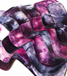 Ice Dyed Bamboo Velour Pads with Fleece backs - Pick Your Size!