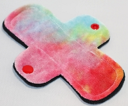 6 Inch Primaries Hand Dyed Bamboo Velour Mini Cloth Pantyliner - Original Width