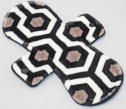 10 Inch Black Oyster Minky Heavy Pad with Fleece back