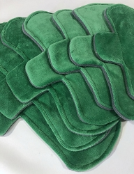 Green Cotton Velour Pads with Fleece backs - Pick Your Size!