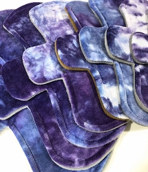 Hand Dyed Berries Bamboo Velour Pads with Fleece backs - Pick Your Size!