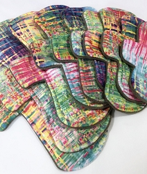 Stained Glass Minky Pads with Fleece backs - Pick Your Size!