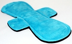 11 Inch Turquoise Minky Overnight Cloth Pad