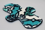 9 Inch Teal Capri Minky Day Pad with Fleece back