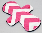 9 Inch Fuchsia Chevron Minky Day Cloth Pad
