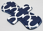 10 Inch Navy Blue Lattice Minky Heavy Pad with Fleece back