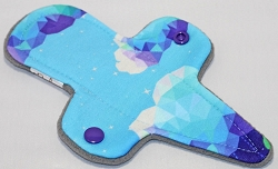 7.5 Inch Feeling Blue Polyester Jersey Thong Pantyliner