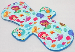 11 Inch Mermaids Polyester Jersey Overnight Pad with Fleece back