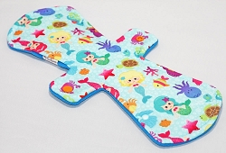 13 Inch Mermaids Polyester Jersey Post Partum Pad with Fleece back