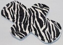 8 Inch Zebra Minky Light Cloth Pad