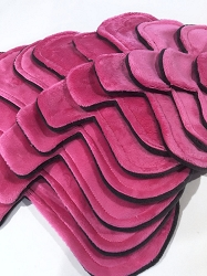 Fuchsia Minky Pads with Fleece backs - Pick Your Size!