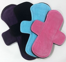 Insta-Stash - Set of 4 Cotton Velour Pads with Fleece backs