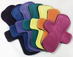 Set of 7 Cotton Velour Pads with Fleece backs