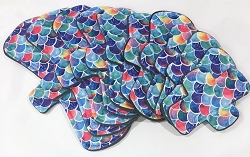 Watercolor Scales Minky Pads with Fleece backs - Pick Your Size!