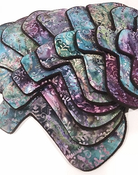 Plum Paisley Batik Cotton Woven Pads with Fleece backs - Pick Your Size!