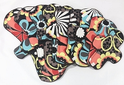 Retro Floral Cotton Woven Pads with Fleece backs - Pick Your Size!