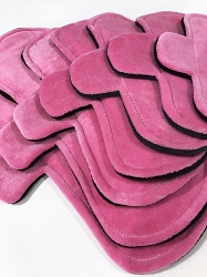 Bubblegum Pink Cotton Velour Pads with Fleece backs - Pick Your Size!