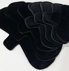 Black Cotton Velour Pads with Fleece backs - Pick Your Size!
