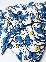 Smurfs Cotton Jersey Pads with Fleece backs - Pick Your Size!