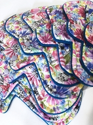 Watercolor Flower Garden Minky Pads with Fleece backs - Pick Your Size!