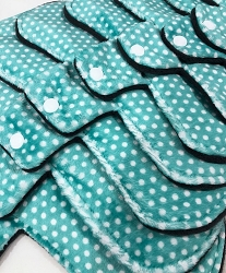 Mint Swiss Dots Minky Pads with Fleece backs - Pick Your Size!