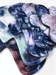 Hand Dyed Bamboo Velour Pads with Fleece backs - Pick Your Size!