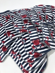Crabby Minky Pads with Fleece backs - Pick Your Size!