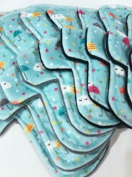 April Showers Minky Pads with Fleece backs - Pick Your Size!