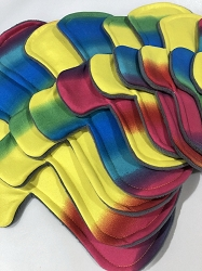 Rainbow Poly Jersey Pads with Fleece backs - Pick Your Size!