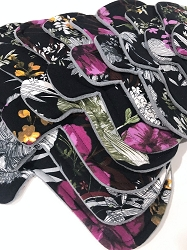 Sketchy Floral Poly Jersey Pads with Fleece backs - Pick Your Size!