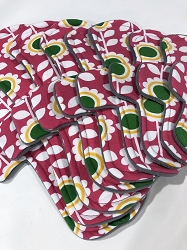 Spring Flowers Cotton Jersey Pads with Fleece backs - Pick Your Size!