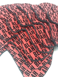 Blah Blah Cotton Woven Pads with Fleece backs - Pick Your Size!