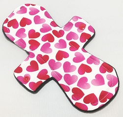 10 Inch Floating Hearts Cotton Heavy Pad with Fleece back