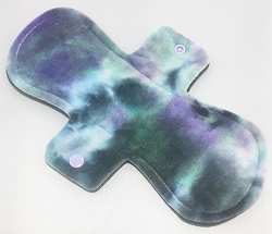 10 Inch Iris Hand Dyed Bamboo Velour Heavy Pad with Fleece back