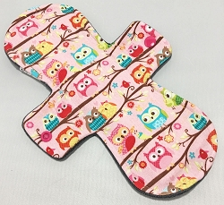 10 Inch Owls Cotton Jersey Heavy Cloth Pad