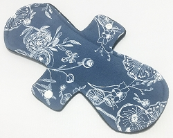 11 Inch Line Drawings Cotton Jersey Overnight Cloth Pad