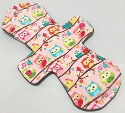 11 Inch Owls Cotton Jersey Overnight Cloth Pad