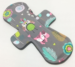 11 Inch Woodland Critters Cotton Jersey Overnight Cloth Pad
