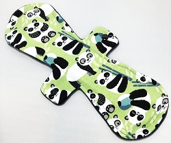 13 Inch Green Pandas Cotton Jersey Postpartum Cloth Pad