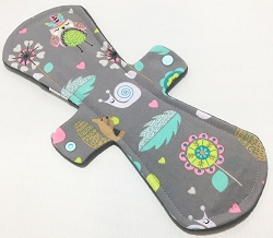 13 Inch Woodland Critters Cotton Jersey Postpartum Cloth Pad