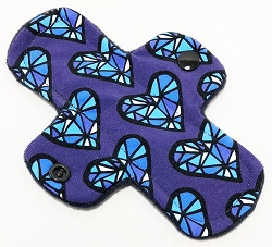 6 Inch Facets Cotton Jersey Mini Cloth Pantyliner - Original Width