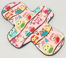 7.5 Inch Owls Cotton Jersey Thong Cloth Pantyliner
