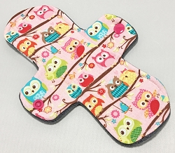 8 Inch Owls Cotton Jersey Light Cloth Pad