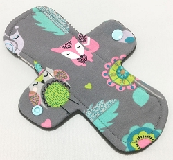 8 Inch Woodland Critters Cotton Jersey Light Cloth Pad